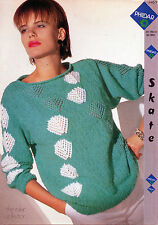 ~ PHILDAR Knitting pattern per LADY'S in pizzo motivo Maglione ~