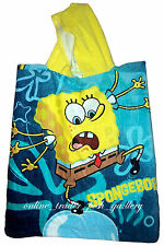 SPONGEBOB HOODED CHARACTER BEACH BATH TOWEL BRAND NEW