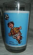 PEPSI Collector Drinking Glass GARY PATTERSON 1979 Sport Series Soccer Heads Up