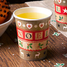 Paper Cups NEW Christmas Table Decorations,Snowflake,Santa,Reindeer,Trees, Merry