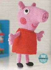 Knitting pattern Peppa Pig soft toy