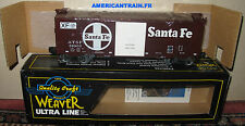 Wagon 40' Box Car Santa Fe Food Loading 3 rails échelle O Weaver
