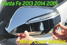 Side Mirror Cover Chrome Molding LED Type 4Pcs For Hyundai Santa Fe 2013 ~ 2016