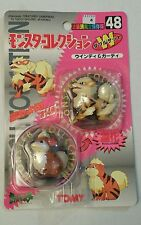 VINTAGE TOMY POKEMON POCKET MONSTER FIGURES ARCANINE & GROWLITHE # 48 1999