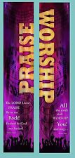 Inspirational Christian Church Banners -Praise and Worship (TWO BANNER SET)