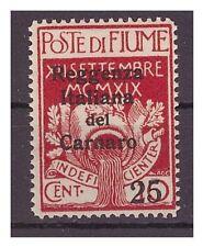 FIUME 1920  -  REGGENZA DEL CARNARO  Cent. 25 su 10  nuovo **