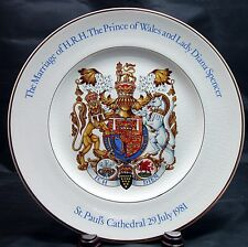 Wood & Co. PRINCE CHARLES & LADY DIANA SPENCER Pottery Wedding Plate