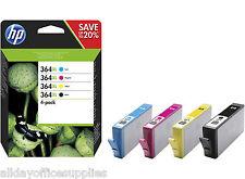 4 Original HP 364XL Ink Cartridges 364XL Black, Cyan, Magenta Yellow 364 XL Inks