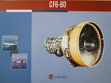 DOCUMENT 1 PAGE RECTO VERSO SNECMA GENERAL ELECTRIC CF6-80 MOTEUR ENGINE AIRBUS