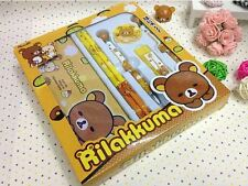 Rilakkuma 7in1 Stationery Set_Pencil case/box,mechanical Pencils,Refill,Eraser