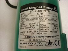 NEW, DNS W-39-11691, IWAKI Magnetic Pump MD-20RM 220N in Original Box,