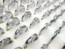 Wholesale Lots 50pcs Mixed Styles Exquisite Silver Plated Rings FREE J222