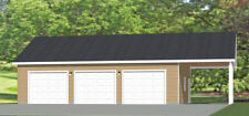 40x30 3-Car Garage -- 1,200 sq ft -- PDF Floor Plan -- Model 6S