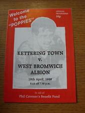 19/04/1988 Kettering Town v West Bromwich Albion [Phil Caveners Benefit] (Item h