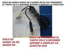 Aux Cavo Audio Mercedes A B C Audio 20 50 2004-2008 iPod iPhone Android Samsung