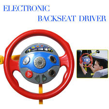 Kid Back Seat Car Steering Wheel Toy Driving Game HornElectronic Light Sounds