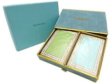 NEW AUTHENTIC Tiffany & Co. 2-Set Decks Trump Card Blue/Green