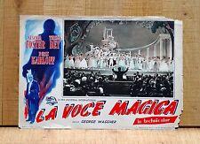 LA VOCE MAGICA fotobusta poster Boris Karloff Teatro Opera Orchestra Horror A91