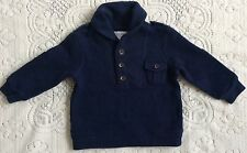 New Baby Boys Ralph Lauren Shawl Collar Fleece Top 6M