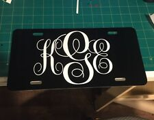 Personalized Monogrammed License Plate Car Tag Initials Custom New Pick 9 Colors