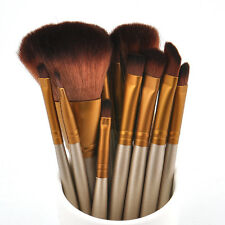 Pro 12pcs Makeup Cosmetic Brushes Set Powder Foundation Eyeshadow Lip Brush Tool