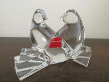 Baccarat France Crystal Love Birds Colombes Valentine Doves Signed With Label