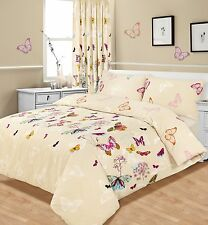 Luxury Butterfly Glaze Bedding King Size Duvet Quilt Cover & Pillowcase Bed Set