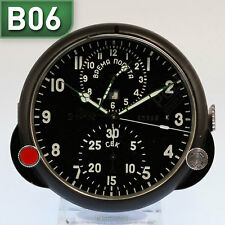 ???-1 RUSSISCHE BORDUHR B-Uhr | RUSSIAN AIRCRAFT BOARD CLOCK Chronograph B06