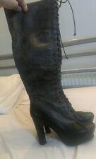 Jeffrey Campbell knee high Aberdeen Bellevue size 4 Victorian gothic style