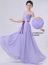 Strapless Long Formal Evening Prom Party Wedding Bridesmaids Dress Bowknot Y108E