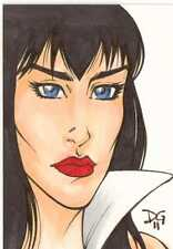 Vampirella 2011 Trading Cards Sketch Card drawn by Diana Greenhalgh