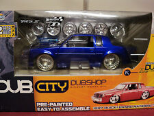 Jada 1987 Buick Regal Grand National 1:24 Scale new in box turbine wheels Blue