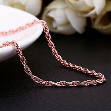 """Fashion Jewellery! 18K Rose Gold GP 1.5MM 26"""" Wrested Rope Chains Necklace C030"""
