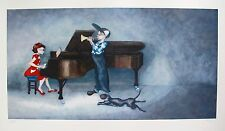 LYNN POLAND Hand Signed Giclee PIANO RAG TRUMPET