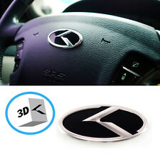3D K Logo Steering wheel Horn Cap Emblem For Hyundai Veloster Turbo 2012 2015