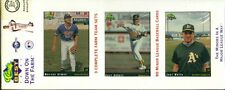 1991 Classic Best Down on the Farm Minor League 3 Team Sets: Oakland A's