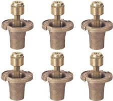 "(6) Champion 18Sh/12002 Brass 1-1/2"" Half Circle Pop Up Lawn Sprinkler Heads"