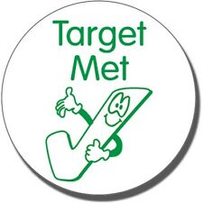 ST66 Target Met Tick Pre-inked School Marking Stamper Primary Teaching Services