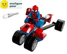 sh038 Lego Marvel Super Heroes 76014 - Spiderman Minifigure & Spider-Trike - New