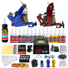 Solong Tattoo Starter Tattoo Kit 2 Pro Machine Guns 14 Inks Power Supply TK210