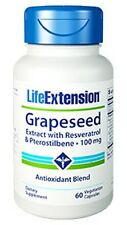 Life Extension Grapeseed Extract with Resveratrol & Pterostilbene (100mg) -60 VC