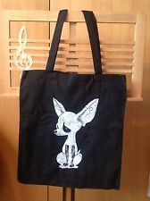 Rock, Goth, Punk Chihuahua Hand Spray Painted 100% Cotton Tote Bag