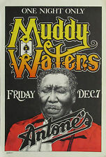 Music Poster Reprint Muddy Waters one night only at Antones