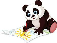 Painting panda kids  room wall sticker AY1126