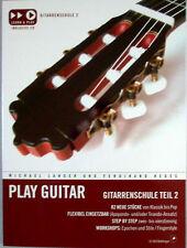 Gitarre Noten Schule : PLAY GUITAR 2 -  Gitarrenschule mit CD -  LANGER