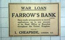 1915 Farrow's Bank Have Made Arrangements To Receive War Loans