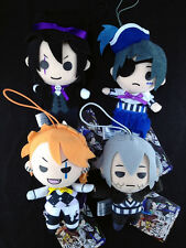 Black Butler Kuroshitsuji Book of Circus Plush Doll Mascot Strap set of 4 Sega