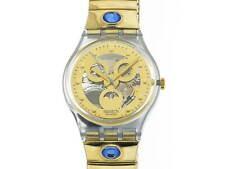 SWATCH Gold Smile classic quarzo bracciale acciaio elastico new