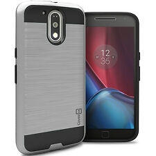 Silver Case for Motorola Moto G4 / G4 Plus Moto G 4th Gen Hybrid Case Cover
