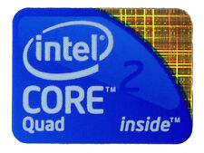 INTEL CORE 2 QUAD STICKER LOGO AUFKLEBER 21x16mm (105)